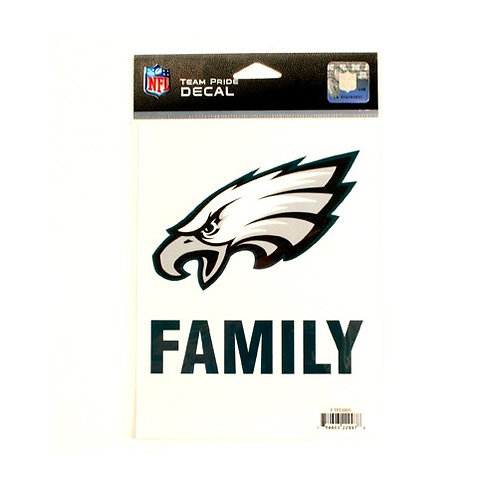 """Eagles 5.5"""" x 6.5"""" Family Pride Decal"""