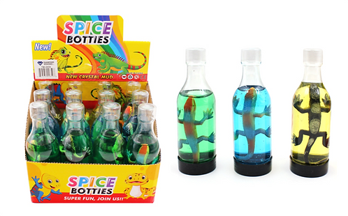 Slime Bottle with Toy Lizard