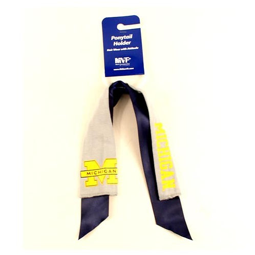 Wolverines Pony Tail Holder - Ribbon Style