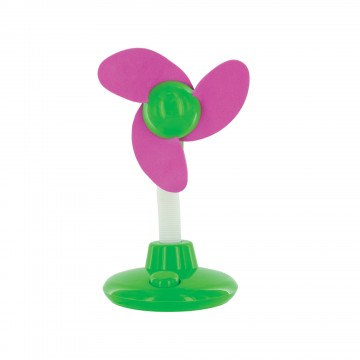 Dual-Powered Mini Desk Fan - Flower Design