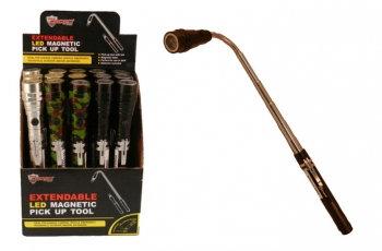 LED Extendable Flashlight & Pick Up Tool