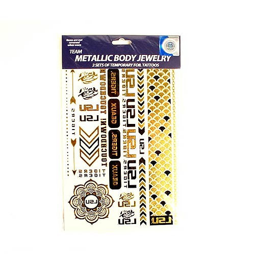 LSU Metallic Temporary Tattoos