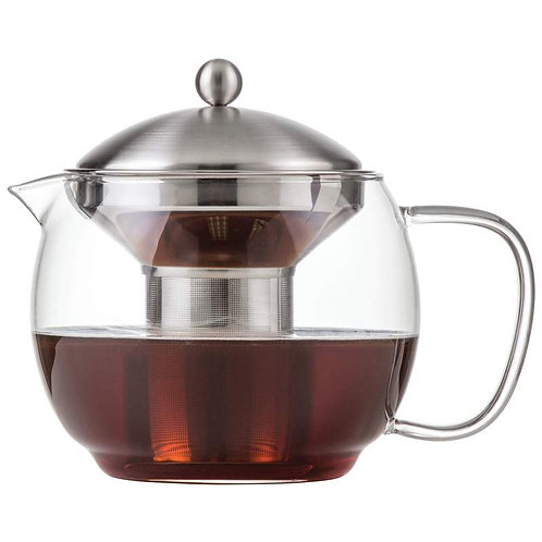 Chef's Secret 40oz Glass Tea Pot with Stainless Steel Infuser and Neoprene Cover
