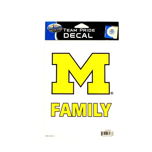 "Wolverines 5.5"" x 6.5"" Family Pride Decal"
