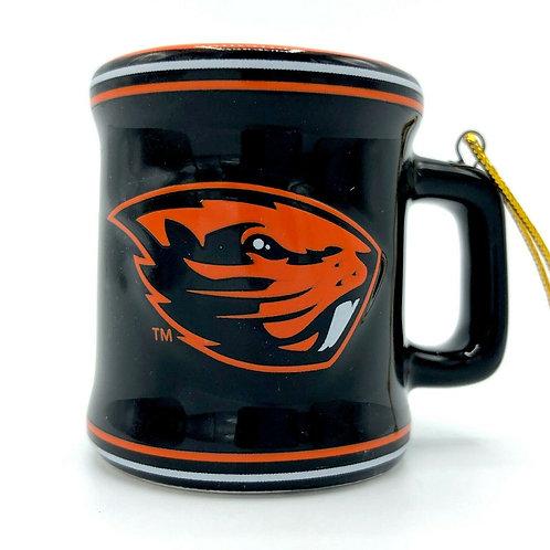 Beavers Ceramic Mini Mug Ornament