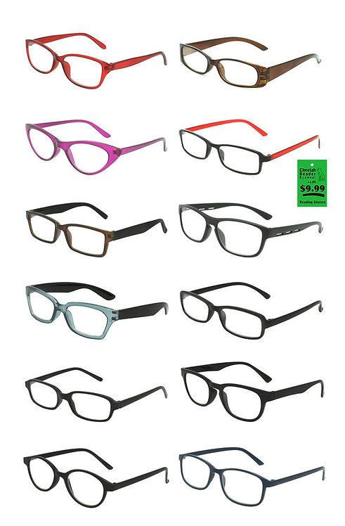 Plastic Frame Reading Glasses - Deluxe