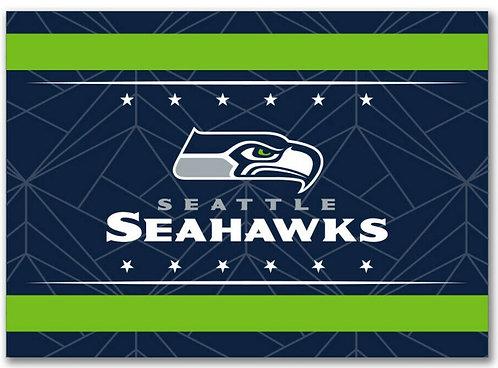 "Seahawks 3.5"" x 2.5"" Magnet - Geo Style"