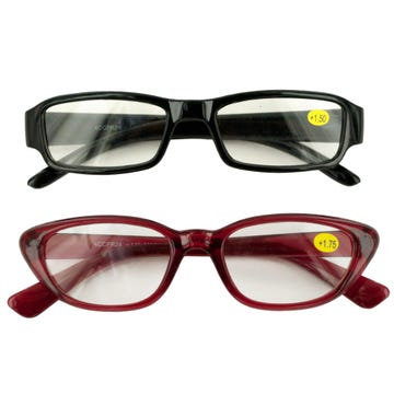 Unisex Classic Cheetah Reading Glasses with Countertop Display