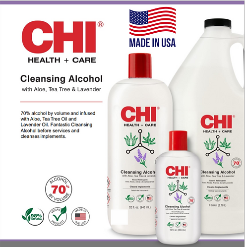 Chi by Biosilk Cleansing Alcohol - 70% Ethyl Alcohol - Scent Free