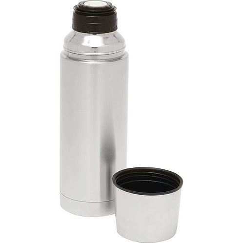 Maxam® 32oz (1L) Stainless Steel Vacuum Bottle - Silver & Black