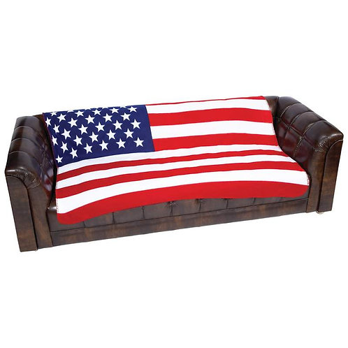 Taylor Layne™ American Flag Fleece Blanket