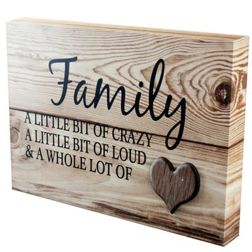 Wooden Family Wall Art