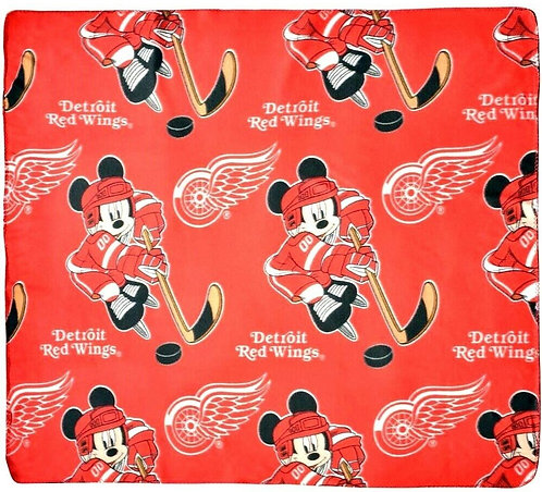 """Red Wings 50"""" x 60"""" Fleece Blanket featuring Mickey Mouse"""