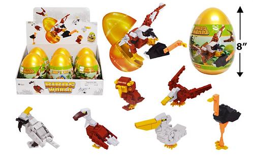Toy Building Blocks - Jumbo - Birds