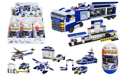 Toy Building Blocks - Large - Police