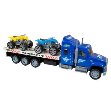 """15"""" Friction Trailer Truck with2 ATVs"""