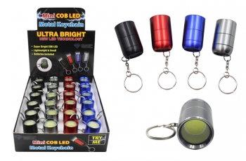 Super Bright COB Mini Flashlight Keychain