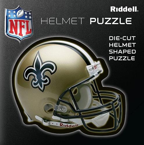 Saints Riddell® 100 Piece Helmet Puzzle