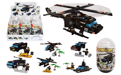 Toy Building Blocks - Large - Swat Helicopter