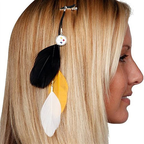 Steelers Feather Hair Clip