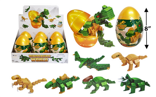 Toy Building Blocks - Jumbo - Dinosaurs