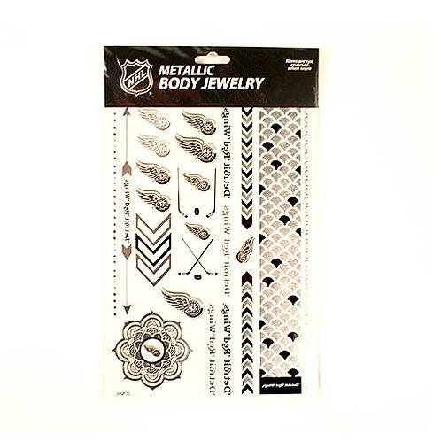 Red Wings Temporary Tattoos - Metallic 2-Pack