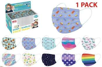 3Ply Face Masks - Printed - Child Sized - Single Packed