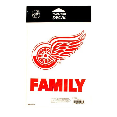 "Red Wings 5.5"" x 6.5"" Family Pride Decal"