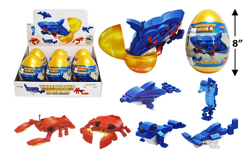 Toy Building Blocks - Jumbo - Underwater World