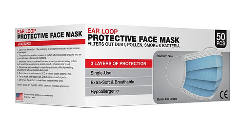 Disposable 3Ply Protective Masks - Valencia - Boxes of 50