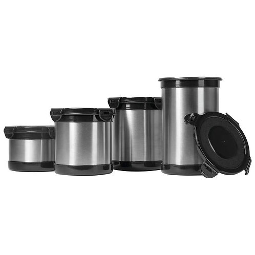 Wyndham House 4pc (2,3,4 & 5 Cup) Stainless Steel Storage Containers