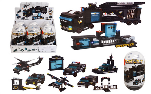 Toy Building Blocks - Large - Swat Truck