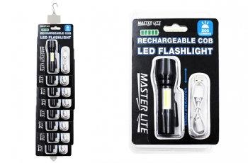 Super Bright COB Mini Flashlight & Work Light - Rechargeable