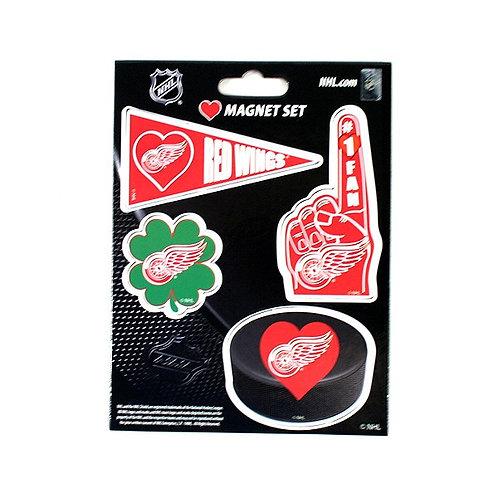 Red Wings 4 Magnet Set