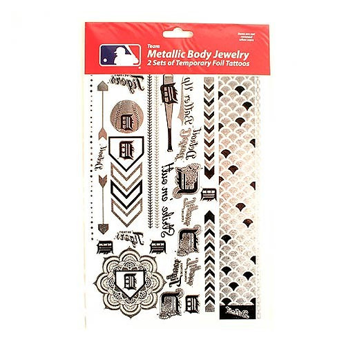 Tigers Temporary Tattoos - Metallic 2-Pack