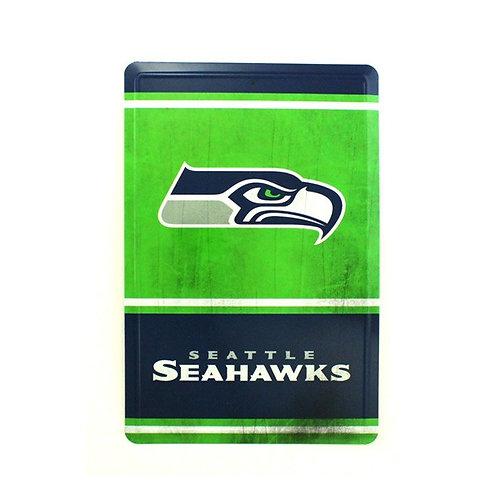 "Seahawks 12"" x 8"" Tin Sign"