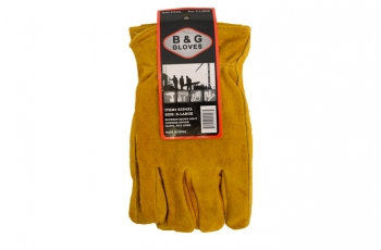 B & G®  XL Pile Lined Suede Leather Winter Work Gloves