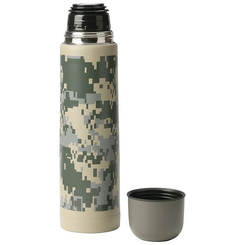 Maxam® 25oz (.74L) Double Wall Bottle with Digital Camo