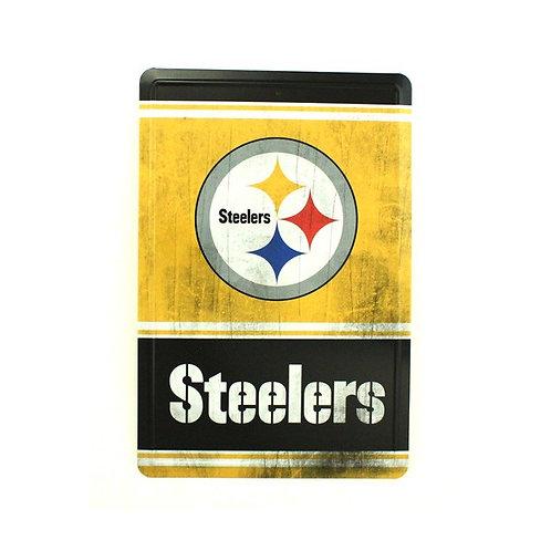 """Steelers 12"""" x 8"""" Tin Sign"""