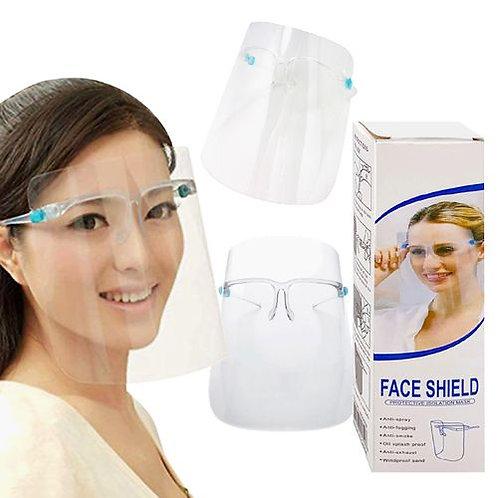 Full Face Shield - Eyeglass Type Mounting - Retail Packaging