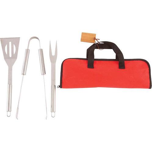 Chefmaster™ 4pc Stainless Steel Barbeque Tool Set