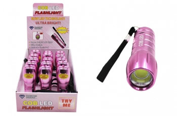 Super Bright COB Flashlight - Pink