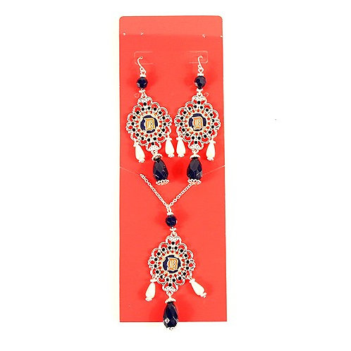 Tigers Baroque Necklace & Earrings Set