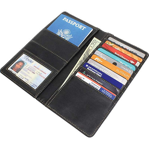 Maxam™ Leather Passport Wallet