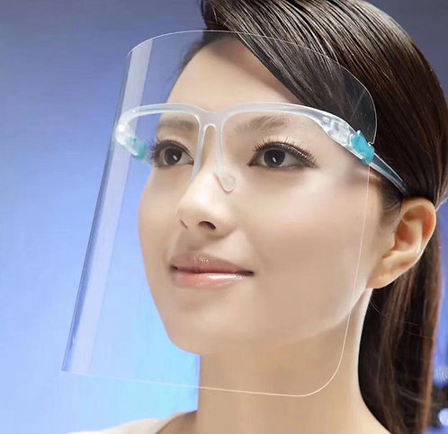 Full Face Shield - Eyeglass Type Mounting - No Retail Packaging