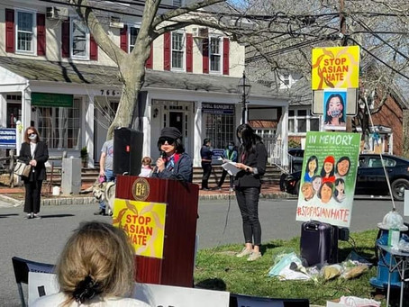Anti-Asian Hate Crime Rally in Basking Ridge
