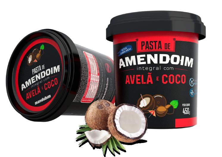 Pasta de Amendoim Integral com Avelã e Coco - 450g