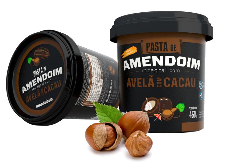 Pasta de Amendoim Integral com Avelã e Cacau - 450g