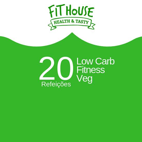 Low carb / Fitness / Veg - 20 refeições