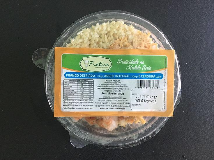 Frango desfiado com arroz integral - 250g